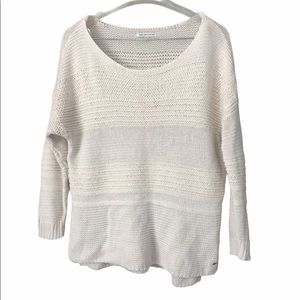 Size Large AEO Scoop Neck Off White Sweater